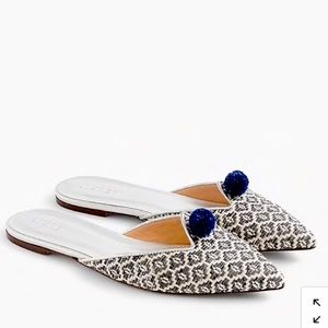 NWT J.Crew Ikat Pointed-Toe Mules